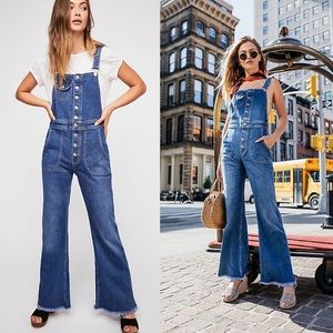 Free People Alvin Flared Overalls